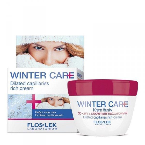 Floslek Winter Care Krem ochronny tłusty do cery naczynkowej  50ml