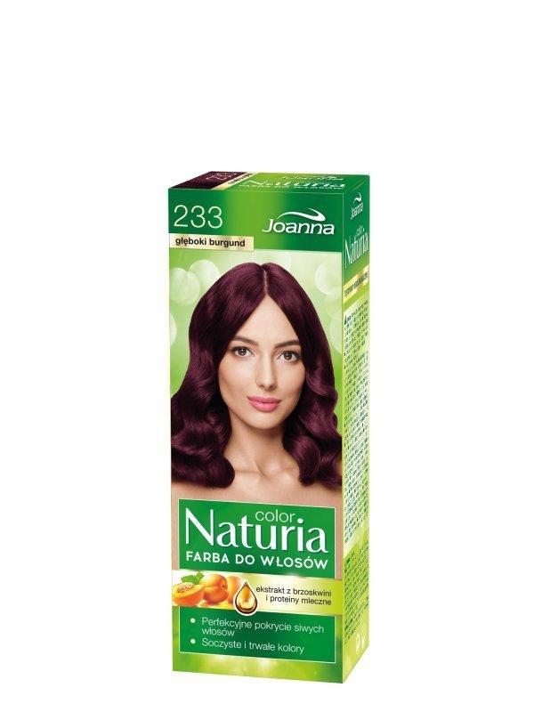 Joanna Naturia Color Farba do włosów nr 233-głęboki burgund  150g