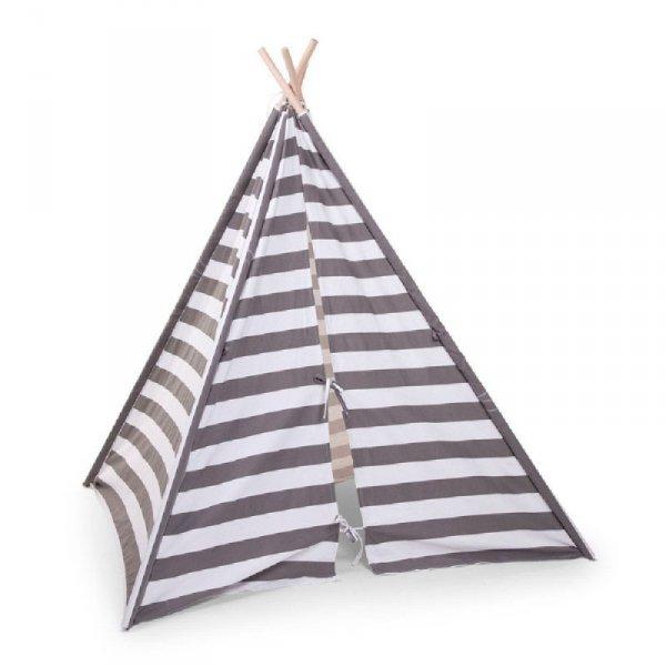 Childhome Namiot Tipi Grey/White Stripes