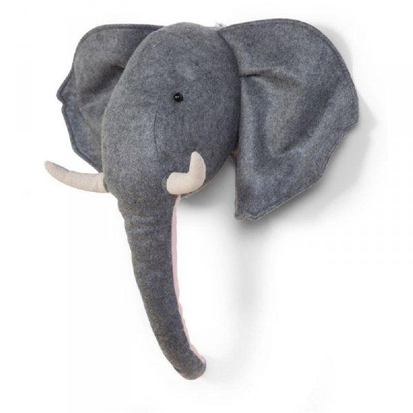 Childhome Filcowa głowa słonia na ścianę