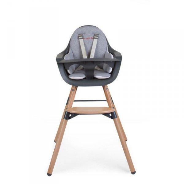 Childhome Dwustronny ochraniacz do krzesełka Evolu 2 Jersey Grey/Gold Dots