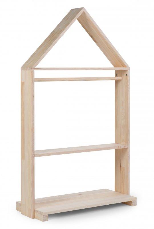 Childhome Regał dekoracyjny Domek + kółka Natural