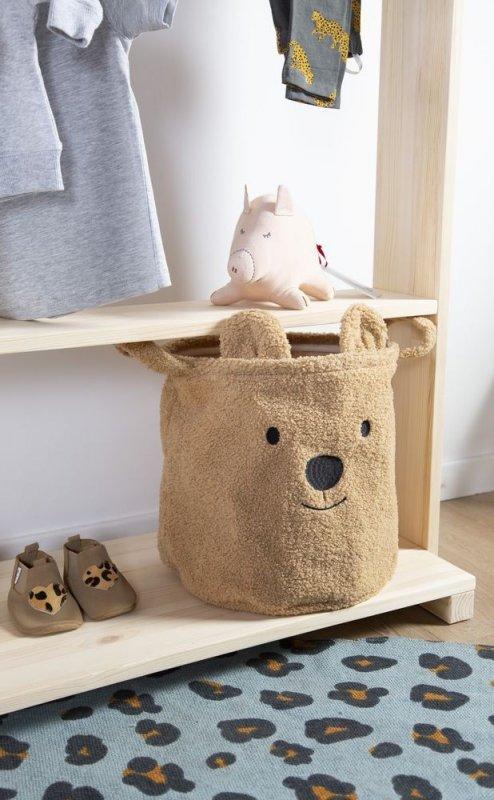 Childhome Pluszowy pojemnik na zabawki 30 x 30 x 30 cm Teddy Bear