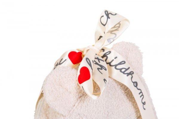 Childhome Plecak dziecięcy My First Bag Teddy Bear White (Limited Edition)
