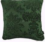Poszewka żakardowa zieleń 42x42