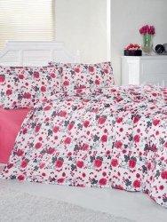 Brielle pościel bawełniana w czerwone róże 200x220