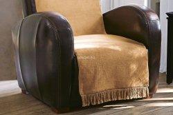 Moca desgin koc jednolity beżowy na fotel