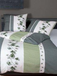 Janine pościel kora satynowa exclusive Tango grün silber 20077 155x200