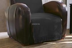 Koc jednolity grafit na fotel