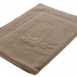 Dywanik ręcznik łazienkowy stopki beż 50x70