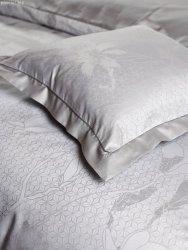 Exclusive Curt Bauer poszewka na poduszkę mako-żakardowa Magnolia grey