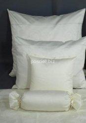 Elegancka pościel żakardowa z włoskiej satyny kremowa 155x200