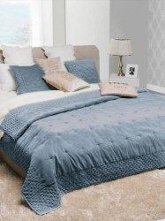 Narzuta typu velvet Alpana niebieski 240x220