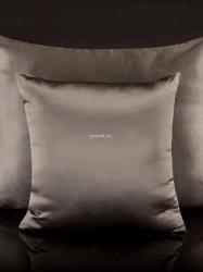 Malbery jedwabna poszewka na poduszkę silver brown 40x40, 40x60, 50x70, 70x80