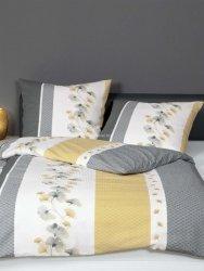 Janine pościel kora satynowa exclusive Tango gelb grau 20077 155x200