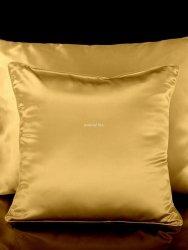 Jedwabna poszewka na poduszkę dark gold 40x40, 40x60, 50x70