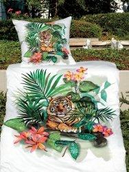 Janine pościel mako-satin Modern art 42072 tygrys 135x200