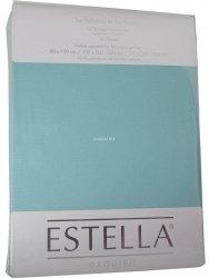 Prześcieradło zwirn-jersey z gumką Estella azur