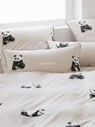 Elegante poszewka mako-bawełniana egipska Panda sand 2328 40x80, 80x80