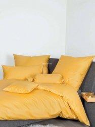 Janine pościel bawełniana egipska jednolita żółta 240x220