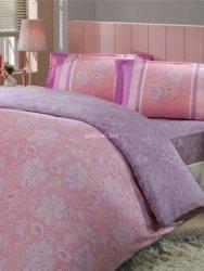 Pościel satynowa Sienna różowo-fioletowa 160x200