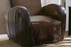 Moca desgin koc jednolity czekolada na fotel