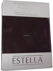 Prześcieradło zwirn-jersey z gumką Estella schoco
