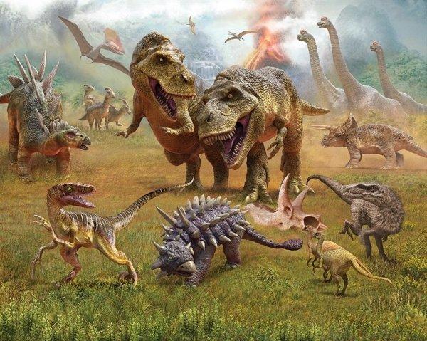 Tapeta 3D Walltastic - dinozaury