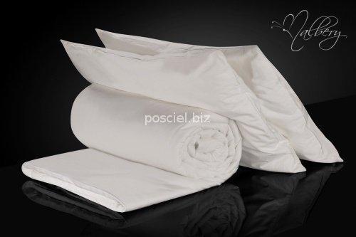 Zestaw jedwab-bawełna:kołdra jedwabna całoroczna Malbery 160x200+ poduszki 50x70