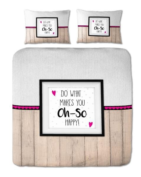 Pościel bawełniana Oh-So Happy 140x200