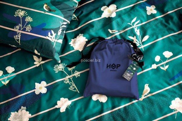 Hop pościel satynowa Botanic garden night 160x200