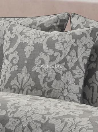 Pościel bawełniana żakardowa Sofia szara 220x200