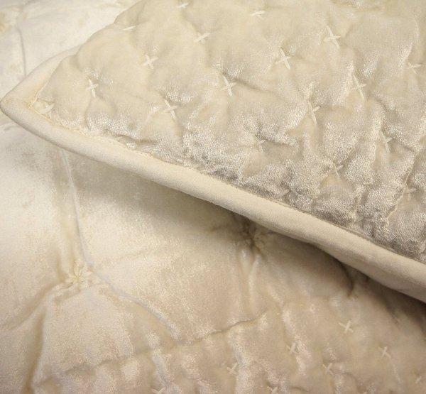 Narzuta typu velvet Alpana krem 240x220