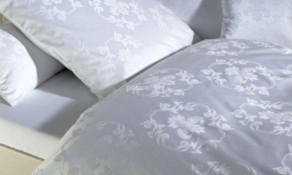 Curt Bauer pościel mako-żakardowa Josephine biała 3737 155x200