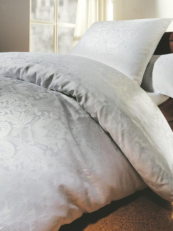 Curt Bauer pościel mako-żakardowa Florenz biała 2680 200x220