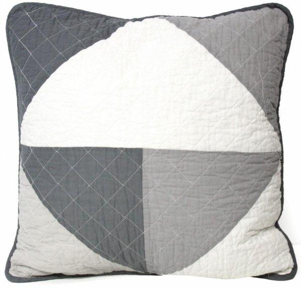 Narzuta bawełniana trójkąty szara 240x220