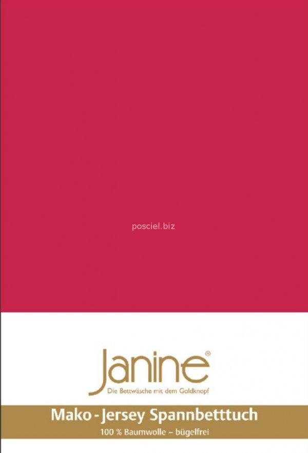 Janine prześcieradło jersey z gumką rot