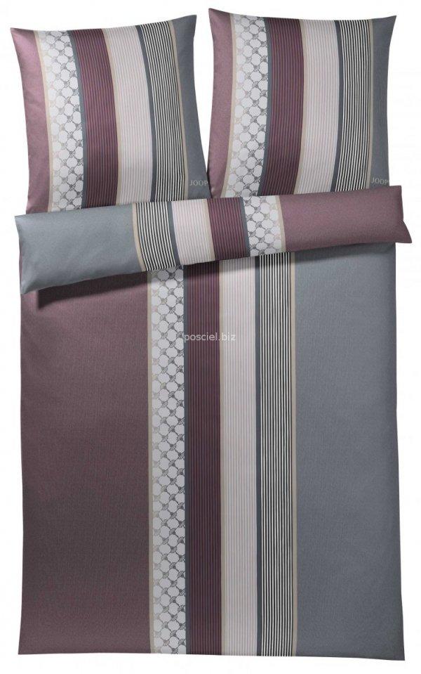 Joop pościel mako-satin Cornflower stripes deep wine 4069 135x200