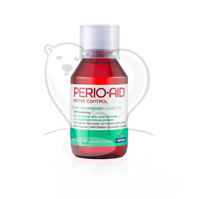 PERIO AID 0,05% CHX - płukanka dentystyczna zawierająca 0,05% Chlorheksydyny + Chlorku Cetylopirydyny 0,05%