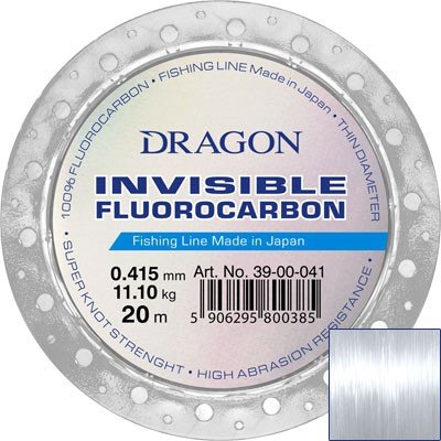 Fluorocarbon DRAGON INVISIBLE 20m 0.415 mm/11.10 kg  clear