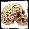 Celtycka Dekadencja - ażurowa czaszka figurka