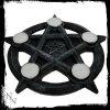 świecznik pentagram, na 6 małych świeczek typu t-light