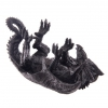 gadżety i prezenty w stylu fantasy - stojak do wina w kształcie leżącego smoka