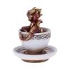 figurka w stylu fantasy - mały czerwony smok w filiżance kawy Draguccino