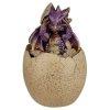 szkatułka w kształcie smoczego jaja z Fioletowym Smoczątkiem
