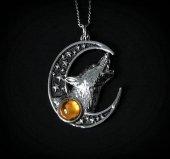 naszyjnik Zew Zaświatów - talizman Księżyc i Wilk