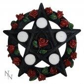 Pentagram z Różami - świecznik