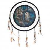 Sowa i Wróżka - duży łapacz snów z obrazkiem Lisy Parker, 60cm