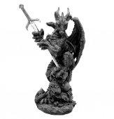 Czarny Smok Slayer - figurka i nożyk do papieru