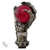 Koścista Łapka z Czerwoną Kulką - elegancka metalowa laska do podpierania